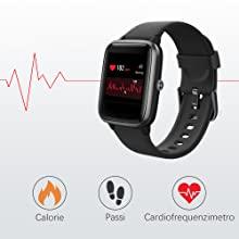 cardiofrequenzimetro di lifebee smartwatch